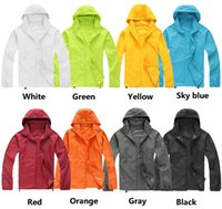 wholesale sports jackets - New Fashion Waterproof Jacket Funky Polular Bicycle Outdoor Sports Rain Coat Fifteen Colors Breathable Male and Female Windproof Jacket
