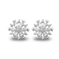 Wholesale new year gift jewellery AAA zircon stone snowflake earring stud friendship gift jewelry earring EB00821