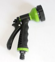 Wholesale 2015 NEW Function Water pipe Nozzle and Garden Water Hose Gun for Car Washer Color random