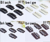 wig clips - 9 teeth snap wig clip for hair extension weave colors available