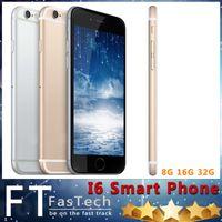2015 Nueva GooPhone i6 Plus V4 Touch Identificación de huellas digitales 5.5 pulgadas IPS 1280 * 720 HD Quad Core MTK6582 1.3GHz 1GB RAM 8GB ROM Nano Sim Card Smartphone