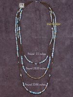 Cheap Wholesale-Exclusive Flower Amazonite with Seed Beads 3 Layered Beaded Necklace Classic Natural Stone Women Necklace Factory
