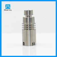 Wholesale Universal Domeless water pipes bongs Titanium Nail male mm mm Dual Function GR2 Wax Oil hookah smoking bubbler