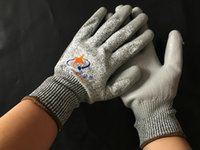 Wholesale PU Working gloves Gray H515 Palm Coated work gloves Workplace Hand safety Supplier Hand Security Supplies pair