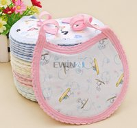 Wholesale Hot Selling Baby Cotton Infant Feeding Bib cm Gift Assorted Designs New and