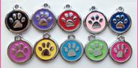 2014 Высокое качество красочные моды милая собака отпечаток лапы сплава ювелирных изделий собак Pet Cat ID Card Метки ожерелье украшения брелок