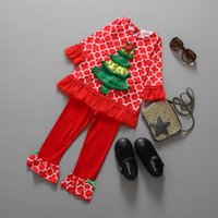children clothing - Santa Suit Cute Girl Falbala Suits Children New Year Clothes Kids Sets Children s Fashion Outfits