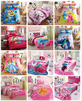 Wholesale Frozen cartoon Despicable Me Spiderman Sets Children s Bedding Duvet Cover Set High Quality Official Design Kids Bedding Factory Sale