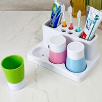 Wholesale Toothbrush Toothpaste Cup Holder Set Stand Organizer Tool Family of Three People