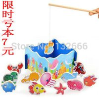 baby fishing pole - fishing toys wooden baby double pole magnetic puzzle early childhood educational toys manufacturers