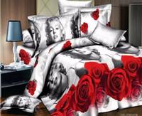 barcelona sheets - Cotton D bedding sets duvet cover bed sheet pillowcase sabanas bedclothes luxury cotton bedding barcelona bedding set
