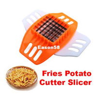 Cheap PVC + Stainless Steel French Fry Fries Cutter Peeler Potato Chip Vegetable Slicer Cooking Tools
