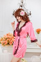 Wholesale Sexy Women Pyjamas Ladies Silk Lace Lingerie Sleepwear Nightwear Night Dress colthes G string NX82 best quality