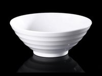 Wholesale Melamine Dinnerware Noodle Bowl Cone Ring Striae Bowl WIth Chain Restaurant A5 Melamine Bowls Melamine Tableware Soup Bowl
