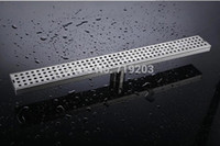 Wholesale 304 Stainless Steel Cm Length Linear Floor Drain For Shower Room Bathroom Accessories