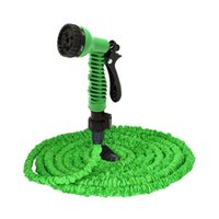 Wholesale 2016 Hot Selling Magic Hose With Spray Gun Expandable Flexible Water Pipe Garden Irrigation Hose Car Wash Pet Bath Original FT FT F