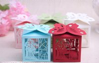 paper box for chocolate - Butterfly Wedding Favor Box Print Laser Cut Paper Bags Small Gift Chocolate Sweet Favors Candy Boxes For Gifts Party Packaging BG50273