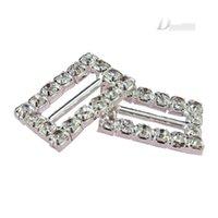 best service music - 10 Rectangle Diamond Rhinestone Ribbon Sliders Buckles Gift Wedding Decoration Wedding Accessories Best Custom Service