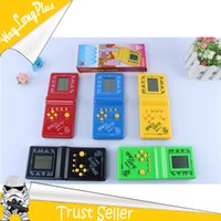 Wholesale Fun Cartoon Tetris Handheld Game Machine Features Diverse Handheld Game Players Brick Game Machines for Children Christmas gift Xmas gift