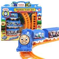 mini electric car toy - Set Thomas train electric eight rail cars tracks Friends Mini Electric Train Set Track Toy for Kids A5