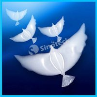 Wholesale White Dove Balloons Aluminum Helium Inflatable Biodegradable Foil Balloons Pigeon Peace Eco Friendly Balloon Wedding Party Decoration DHL