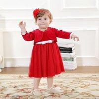 baptism socks - New High quality Baby girl Christening full Velvet red Gown wedding newborn formal Baptism dress coat hat Socks M