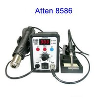 Cheap Fcarobd 1pc ATTEN AT8586 2 in 1 Hot Air SMD Rework Soldering Desoldering Station Hot Air Soldering Station, SMD Rework Station