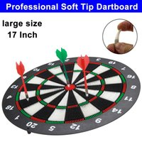Wholesale Large size inch Professional soft tip darts dart board set flights accessories dartboard shafts game for children kids adult