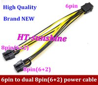 Wholesale DHL or EMS y NEW pin to dual pin power cable made of AWG wire for graphics card Splitter Adapter Connector order lt no