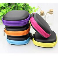 Wholesale New Earphone Headphone Earbud Carrying Storage Bag box Pouch Hard Case for LG iphone c Samsung galaxy s4 S5 MIUI Xiaomi digital cable