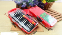 Wholesale stainless steel multi function screwdriver set family essential screwdriver PC hardware combination tool15072223
