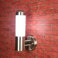 arts crafts sconce - Art Craft Stainless Steel LED Aisle Wall Sconce Outdoor LED Spot Lights Wall Lamp Acrylic E27 Garden Yard Fixture Light IP65