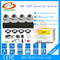 Wholesale HHDVISION H CCTV cameras P real time recording DVR CH TVL IR Outdoor indoor video for surveillance system AHD DVR Kit