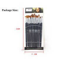 artists painting supplies - Face Paint Brushes Professional Nylon Hair Paint Brush Set Face Painting Body Makeup Wooden Handle for Artist Art Supplies