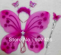 Wholesale butterfly wing set wing headband fairy wand Angel wing set