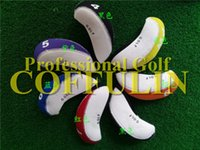Wholesale Custom Brand Logo Golf Clubs Irons Headcover Set P A S L Golf Head Cover More Color Choose