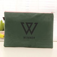 Wholesale got7 ikon winner infinite sj snsd cloth Document Bags File Case Office School Filing Products