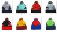 Revisiones Sombreros de los deportes de la ciudad-2015 El más reciente Gorros Pom Knit Sombreros Deportes Cap fósforo de la mezcla Orden All City Caps en calidad superior stock Sombrero