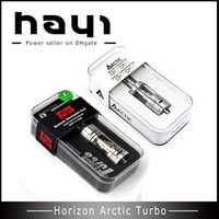 Wholesale Sticks Glasses - Horizon Arctic Turbo Sub Tank Atomizer BTC BTDC 0.2 0.5ohm arctic tank fit kbox i-stick 20-100w cloupor