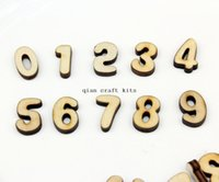 Wholesale 800pcs random mix Number set Numbers Wood number Natural Wall clock Kids Home embellishment Charms