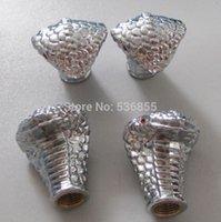 Wholesale 2014 new arrive metal novelty car wheel tire valve cap stem snake design tire air dust cap