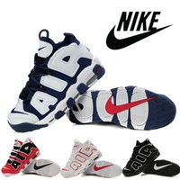 stretch fabric - 2016 Nike Air More Uptempo Men Training Shoes Pippen Retro Men Basketball Shoes Cheap Air Max Olympic USA mens outdoor athletic Sneakers