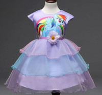 Wholesale 2016 New Years Big Kids Girls Dress fashion Pony Spring Girl Short sleeve Dresses My girls princess Little Pony Costume D166