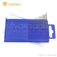 Wholesale FAVORTOOLS set HSS Micro Twist Drill bit set mm high speed steel PCB Mini drill Jewelry Tools Dremel bit A3