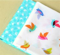 ab fly - 160 CM Flying Birds AB Style Print Cotton Fabric Telas DIY Tissue Patchwork Sewing Baby Toy Tilda Quilting Textile Tecido
