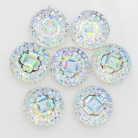 ab resin beads - mixed color mm crystal AB Flatback Resin Round Stone beads flower flatback resin rhinestone for DIY deco
