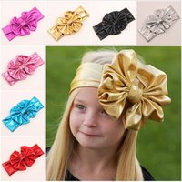 accesories for babies - Children s Hair Accesories Europe and America Baby Child Big Bows Baby Hair Accessories Headbands Hair Bows For Girls pieces