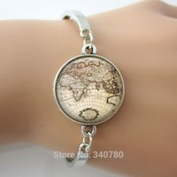 atlas bracelet - Vintage globe bangle vintage world atlas pendant world map jewelry keepsake map pendant bracelets bangles pc