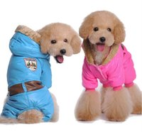 Wholesale Pet clothing high quality pet clothing qiu dong with legs cotton padded clothes Christmas gives the gift of a pet