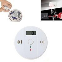 Wholesale LCD Sensor Warning CO Carbon Monoxide Poisoning smoke Gas Alarm Detector Tester LCD DHL